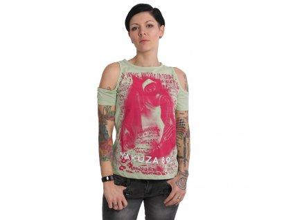 Yakuza RESPIRATOR SHOULDER CUT dámske tričko GSB 15124 laurel green