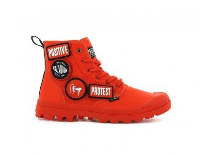 Palladium módne topánky PAMPA HI CHANGE orange