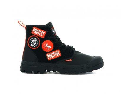 Palladium módne topánky PAMPA HI CHANGE black