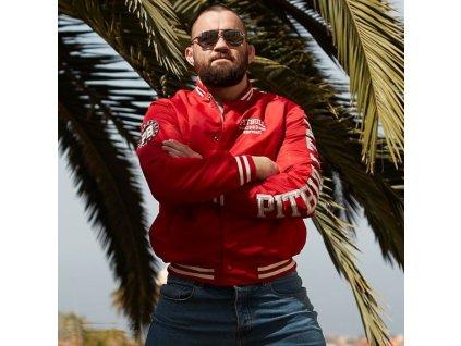PitBull West Coast HERMANN red prechodná bunda pánska B