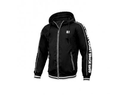 PitBull West Coast BLACKWOOD black white prechodná bunda pánska