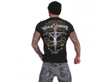 Yakuza WAR IS MURDER tričko pánske TSB 15028 black