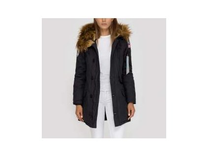 Alpha Industries Polar Jacket Wmn dámska zimná bunda black
