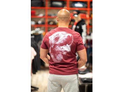 PitBull West Coast tričko SAN DIEGO IV pánske burgundy f