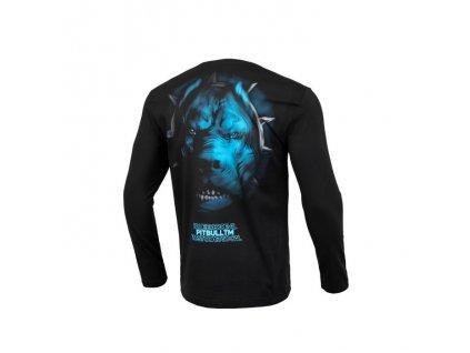 PitBull West Coast BLUE EYED DEVIL Vblack tričko pánske s dlhým rukávom