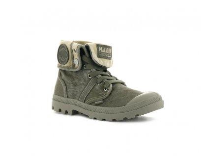 Palladium módne topánky WOMENS PALLABROUSSE BAGGY DUSKY GREEN/SAFARI