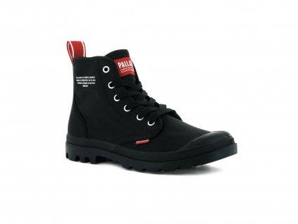 Palladium módne topánky PAMPA HI DARE BLACK