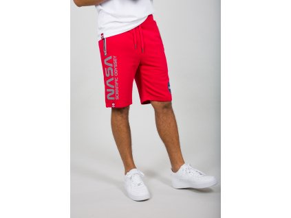 Alpha Industries ODYSSEY SHORT speed red pánske šortky