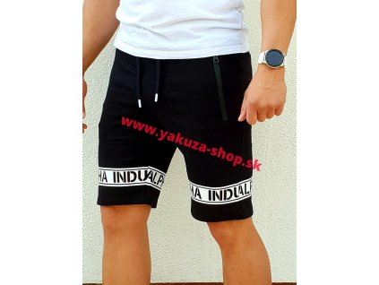 Alpha Industries LEG PRINT SHORT black pánske šortky
