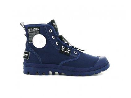 Palladium módne topánky PAMPA LITE OVERLAB TWILIGHT BLUE