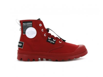 Palladium módne topánky PAMPA LITE OVERLAB RED SALSA