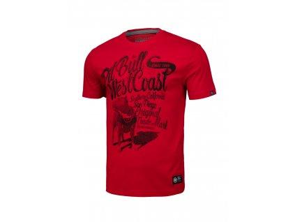 PitBull West Coast DOGGY red tričko pánske