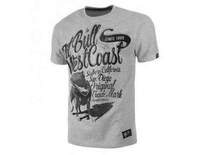 PitBull West Coast DOGGY grey tričko pánske