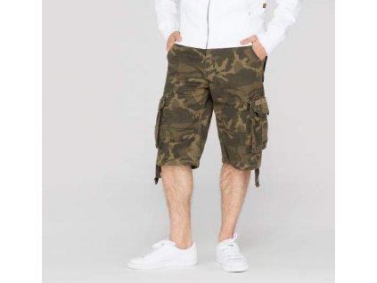 Alpha Industries Jet Short Olive Camo pánske šortky