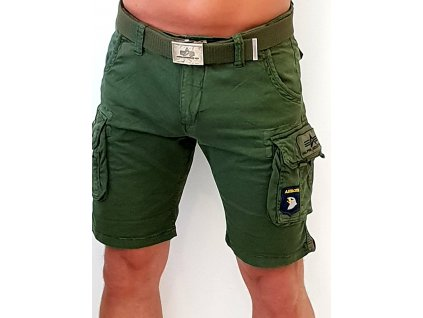 Alpha Industries Crew Short Patch Dark Olive pánske šortky