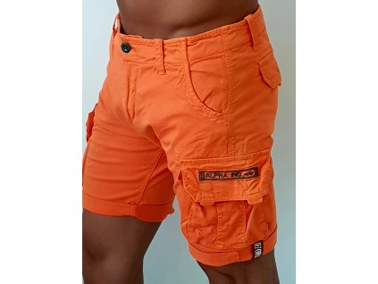 Alpha Industries Crew Short Flame Orange pánske šortky