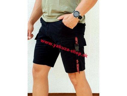 Alpha Industries RBF Clip Short Black pánske šortky