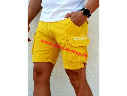 Alpha Industries Crew Short Empire Yellow pánske šortky