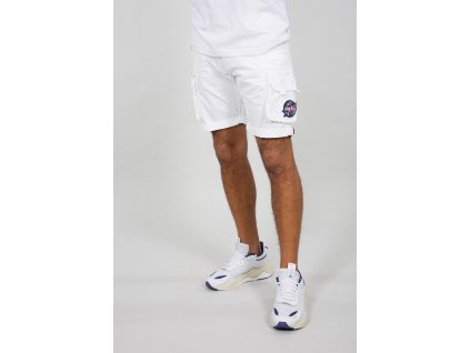 Alpha Industries NASA Short White pánske šortky