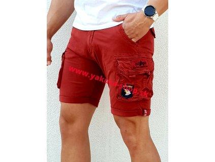 Alpha Industries Crew Short Patch RBF Red pánske šortky