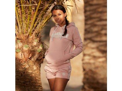 Pitbull West Coast dámske šortky FRENCH TERRY Small Logo pink