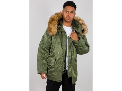 Alpha Industries N3B zimná bunda sage green f