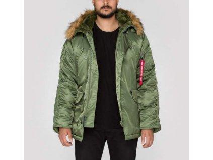 Alpha Industries N3B zimná bunda sage green