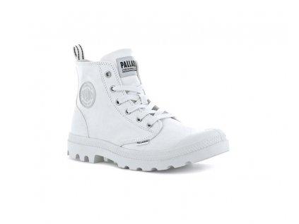 Palladium módne topánky PAMPA HI ZIP CANVAS STAR WHITE