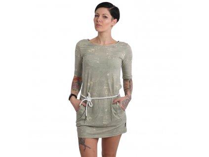 Yakuza dámske šaty BOTANIST GKB 15108 boa
