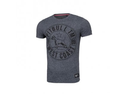 PitBull West Coast tričko pánske FIT CIRCLE DOG navy melange