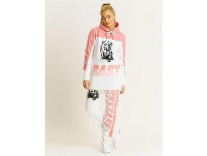 Babystaff mikina VENA pink/white