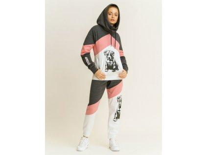 Babystaff mikina SADY grey/pink