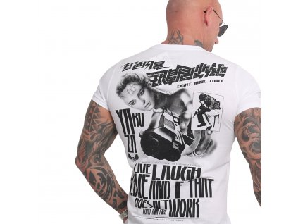 Yakuza LIVE LAUGH LOVE tričko pánske TSB 16015 white
