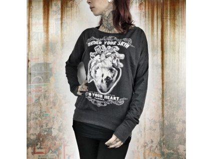 Yakuza INTO YUR HEART dámske tričko s dlhým rukávom GLSB 9125 black