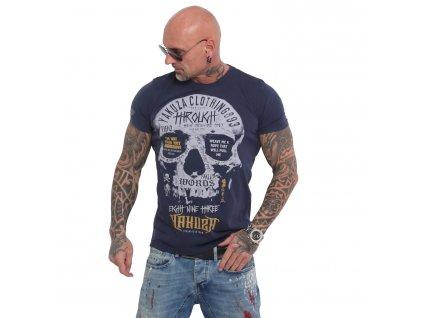Yakuza THROUGH SKULL tričko pánske TSB 16018 mood indigo