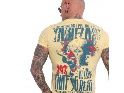 Yakuza PISS OFF tričko pánske TSB 16020 pale banana