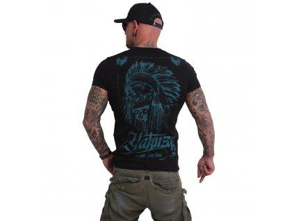 Yakuza INDIAN SKULL tričko pánske TSB 16027 black