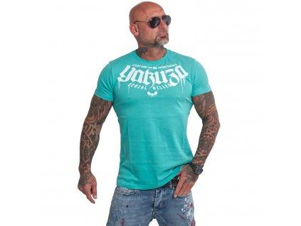 Yakuza KILLER tričko pánske TSB 16064turquoise