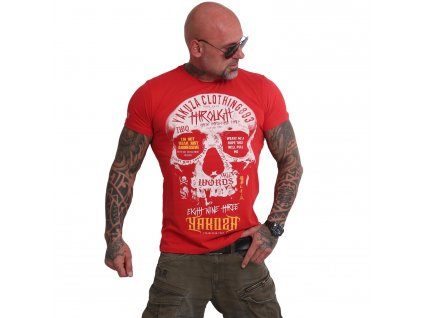 Yakuza THROUGH SKULL tričko pánske TSB 16018 ribbon red