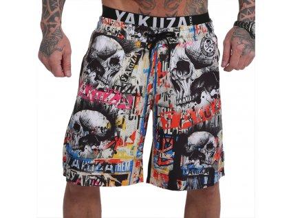 Yakuza plavkové šortky SICK ALLOVER BSB 16045 bunt