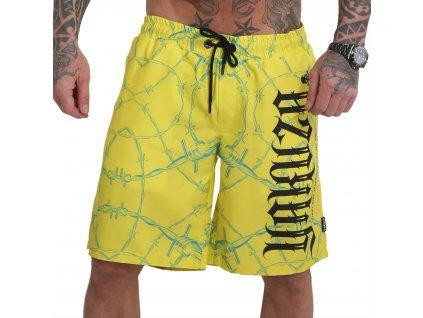 Yakuza plavkové šortky BARBWIRE BSB 16044 safety yellow