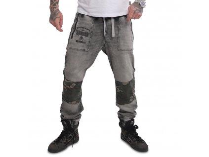 Yakuza pánske jeansy TURN JOGGING JEANS JEB 16069 camouflage