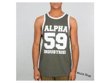 Alpha Industries 59 TANK tielko pánske dark olive