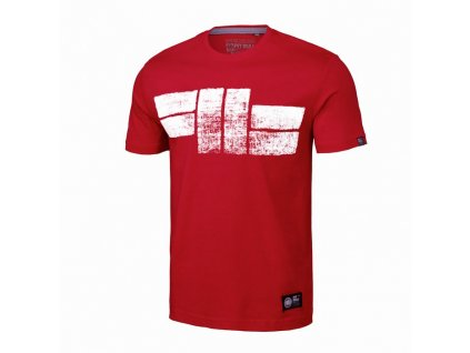 PitBull West Coast CLASSIC LOGO 19 red tričko pánske
