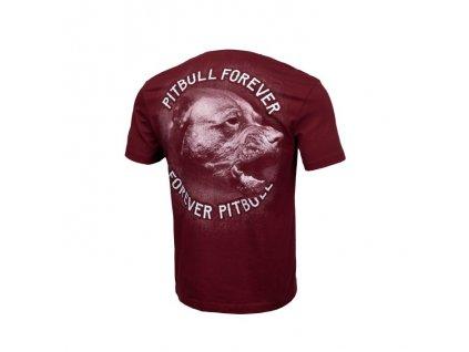 PitBull West Coast tričko pánske PFFP burgundy