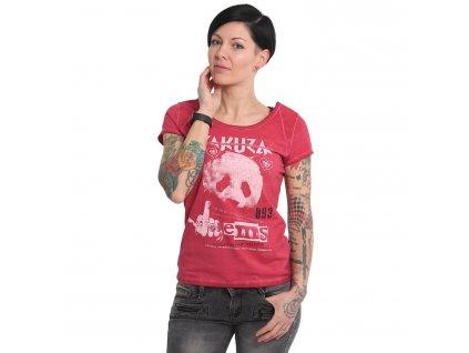 Yakuza dámske tričko PANDA GSB 16119 jester red
