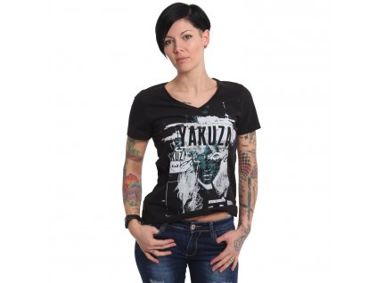 Yakuza MY KNIFE V NECK dámske tričko GSB 16122 black