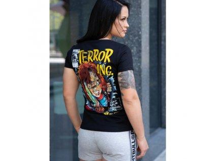 PitBull West Coast dámske tričko SCARE Lycra black