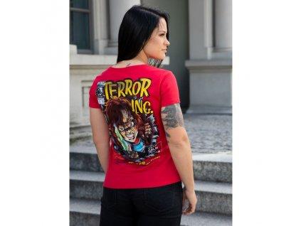 PitBull West Coast dámske tričko SCARE Lycra red