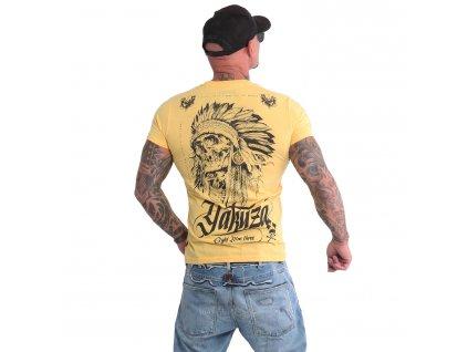 Yakuza INDIAN SKULL tričko pánske TSB 16027 banana cream